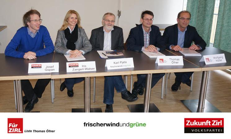 Drei Listen verlangen eine sorgfältigere Budgetplanung, mehr Zusammenarbeit im Zirler Gemeinderat!